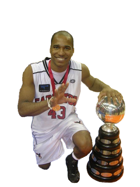 Osvaldo Jeanty with Trophy